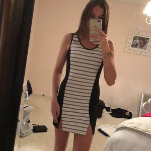 Soprano Dresses - Stripped Bodycon Dress